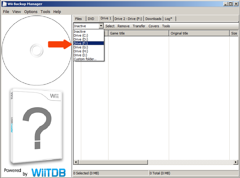 how to add wbfs files to wbfs drive